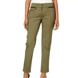 NWT NINE WEST OLIVE GREEN STRAIGHT--LEG DRESS PANT